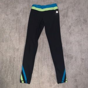 BRX Small Black & Blue Athletic Leggings